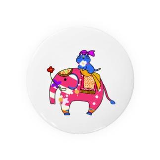 インド象とニャンマー Badges