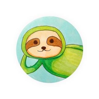 新緑グリーンナマケモノ Badges