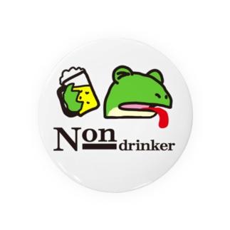 non-drinker カエルゲコ下戸 舌あり Badges