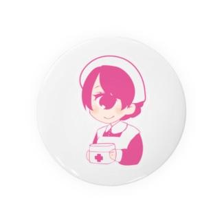 くらげの水槽の単眼+ナースちゃん(ストロベリー) Badges