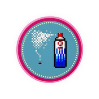 ピクセルアート-殺虫剤 缶バッジ