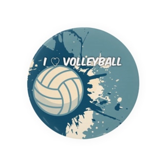 volleyball (cool)缶バッジ Badges