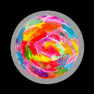 Hesperiidaeのピンクのぐるぐる Badges