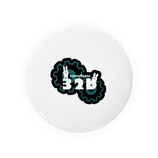 32bロゴ(ネガ) Badges