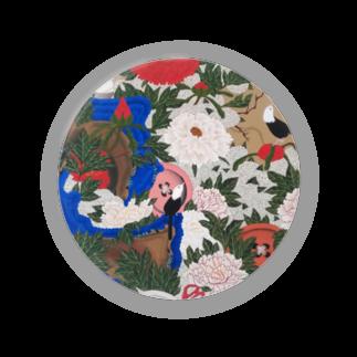 白餅食べ放題の釦小禽図 Badges