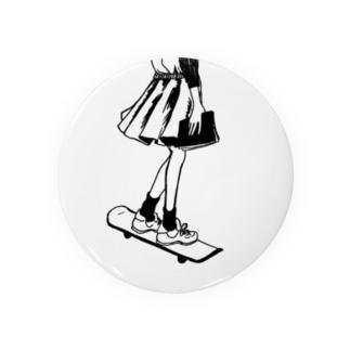 skating bookgirl Badges