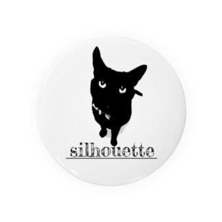 黒猫シルエット Badges