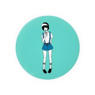 黒髪の女の子 Badges