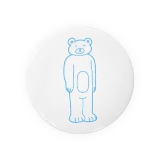 【ゆっきー×うめぼし】脱力くまさん(白)【コラボアイテム】 Badges