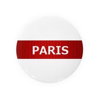PARIS 赤 缶バッジ