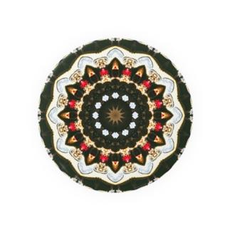 万華鏡:小物類の円形デザイン Kaleidoscope pattern 缶バッジ