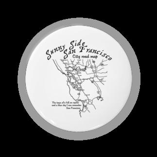 JOKERS FACTORYのCITY ROAD MAP 缶バッジ