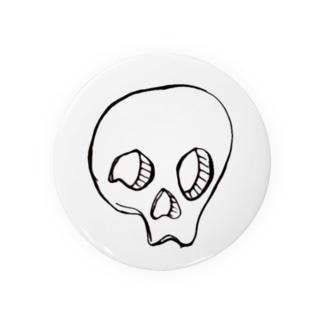 ドクロホワイト Badges