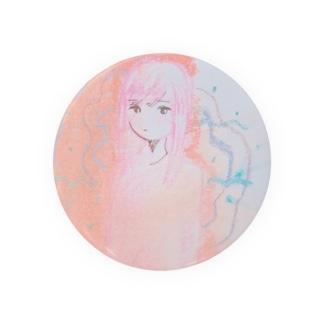 ピンクの女の子 Badges