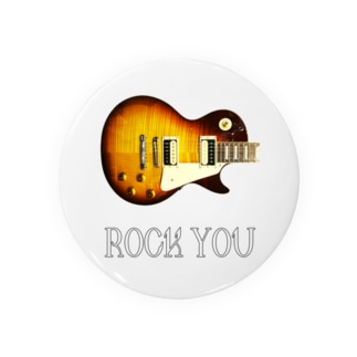ROCK YOU 背景透過 缶バッジ