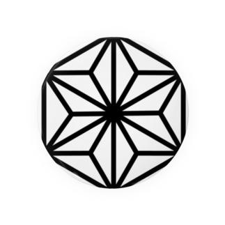 Japonismの麻の葉柄 Badges