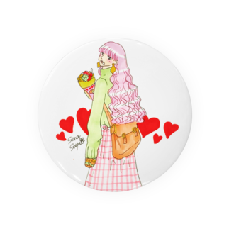 倉田姉妹店のクレープと女の子ばっち* 缶バッジ