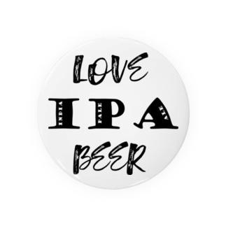 love IPA beer [Black] 缶バッジ