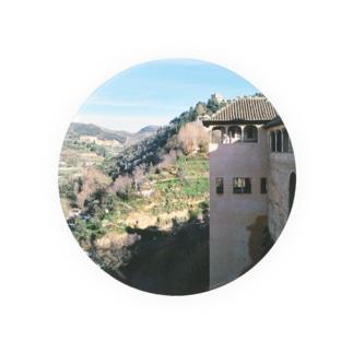 スペイン:アルハンブラ宮殿から見たグラナダの風景 Spain: La Alhambra/ Granada 缶バッジ