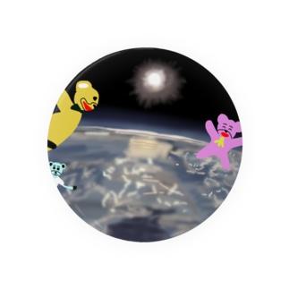 宇宙を旅するくまさん「成層圏(高度20,000m)」 Badges