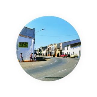 スペイン:小さな町の昼下がり Spain: view of small town 缶バッジ