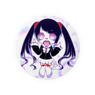 黒ツインテちゃん Badges