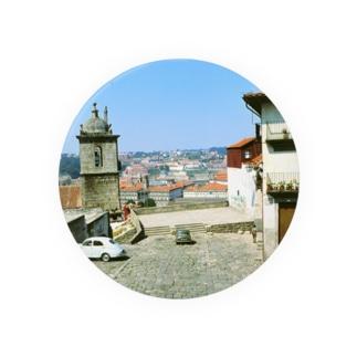 ポルトガル:ポルト旧市街の風景写真 Portugal: view of Porto 缶バッジ