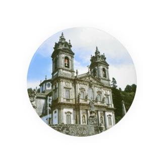 ポルトガル:ブラガのボン・ジェズス教会 Portugal: Santuário do Bom Jesus/ Braga 缶バッジ