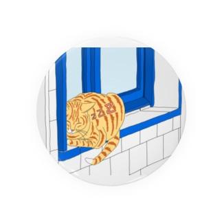 猫どこでも眠れちゃいます。 Badges