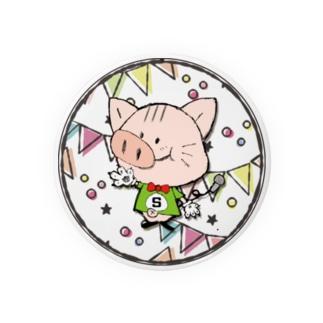 【S】にゃりぶぅアルファベット Badges