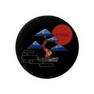 Japanな盆栽_黒 Badges