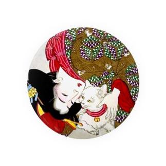 猫と美人 Badges