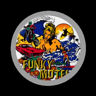 JOKERS FACTORYのFUNKY MOTEL 缶バッジ