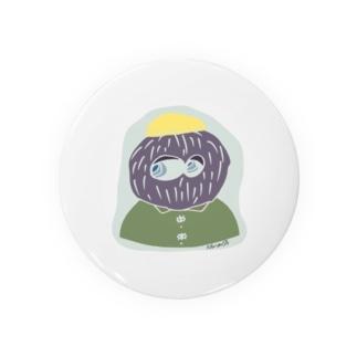 hair ball man Badges