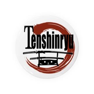 75mm  Tenshinryuバッジ 缶バッジ