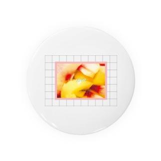 FRUIT peach&goldkiwi Badges