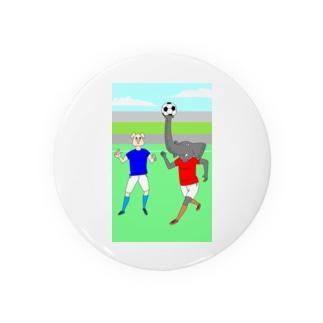 ボールを運ぶゾウ 缶バッジ