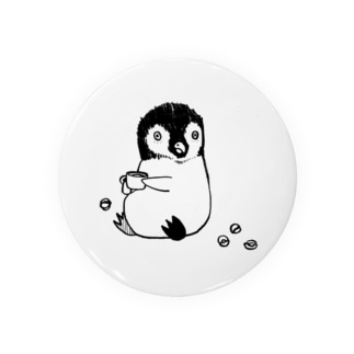 コーヒーとペンギン 缶バッジ