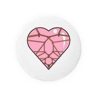 ハート束縛・ピンク Badges