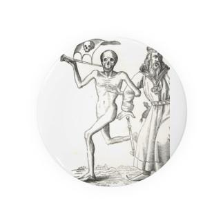 ホルバインの死の舞踏と聖書の木版画 缶バッジ