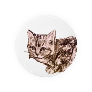 お魚くわえた野良猫 Badges