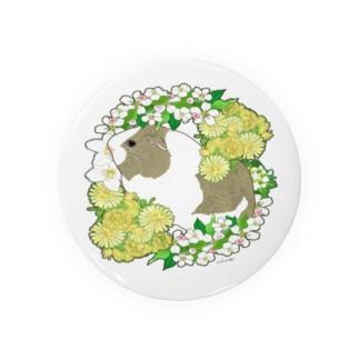野菜の花の輪1・イングリッシュアグーチ Badges