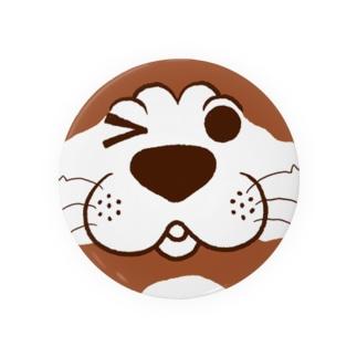 犬のぽんちゃん、ドアップ Badges