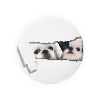 中のペキ&狆 Badges
