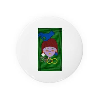色で遊ぶ女の子 Badges