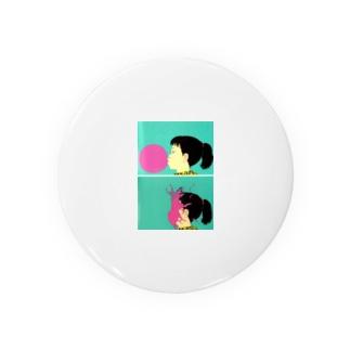 風船と女の子 Badges