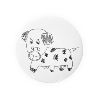 うろ覚え動物シリーズ   ウシ Badges