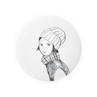 ニット帽のおんなのこ(困り眉) Badges