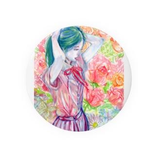 ユカと花 缶バッジ