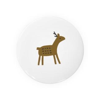 鹿 缶バッジ